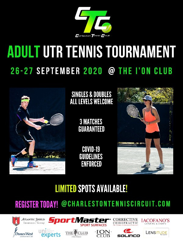 Adult tennis tournament for all levels in Charleston.
