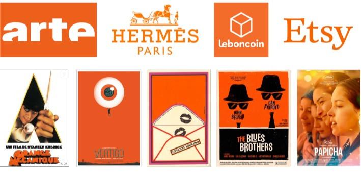 Logos et affiches orange - Studio JL