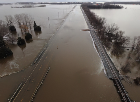 360 degree drone pictures show flooding in North Dakota