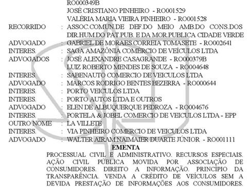 RESOLUCIÓN DEL TRIBUNAL DE JUSTICIA DE BRASIL DAÑO MORAL A LA COMUNIDAD POR PUBLICIDAD ENGAÑOSA