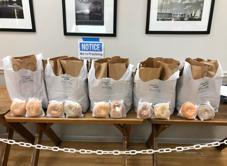 5 bags of bagels for Stamford Hospital, in appreciation!