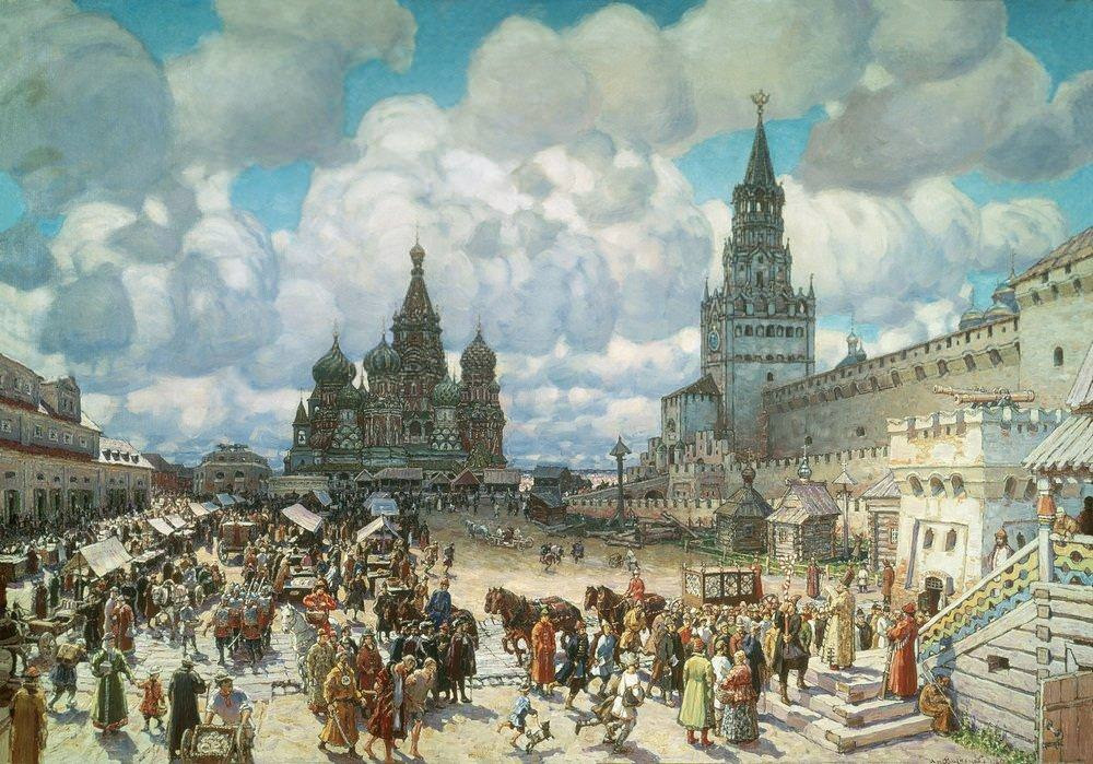 Красная площадь во второй половине XVII века (1925 год)