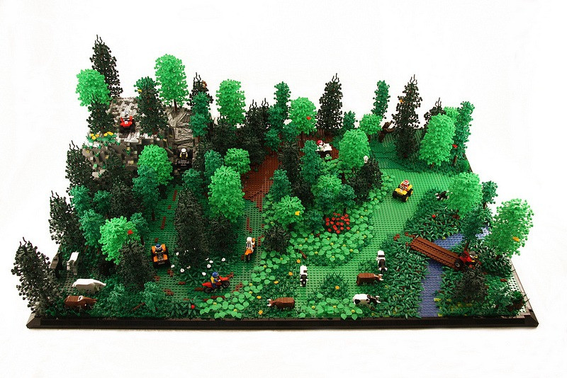 From now on, Lego leaves, bushes and trees will be made out of real plants, not oil.