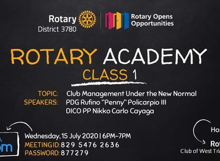 Rotary Academy Class 1: Club Management Under the New Normal