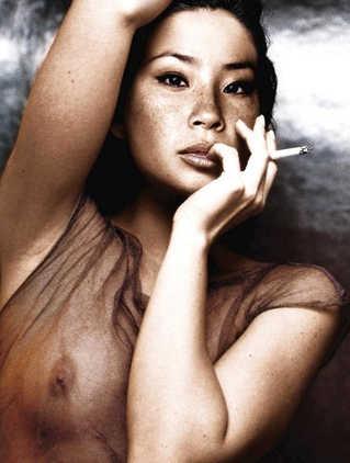 Lucy Liu naked celebrity
