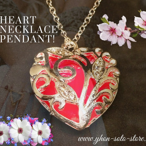 """New Heart Necklace Pendants """"Red"""" or """"White"""" are Available"""
