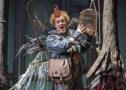 Gavan Ring as Papageno in Opera North's production of Mozart's The Magic Flute
