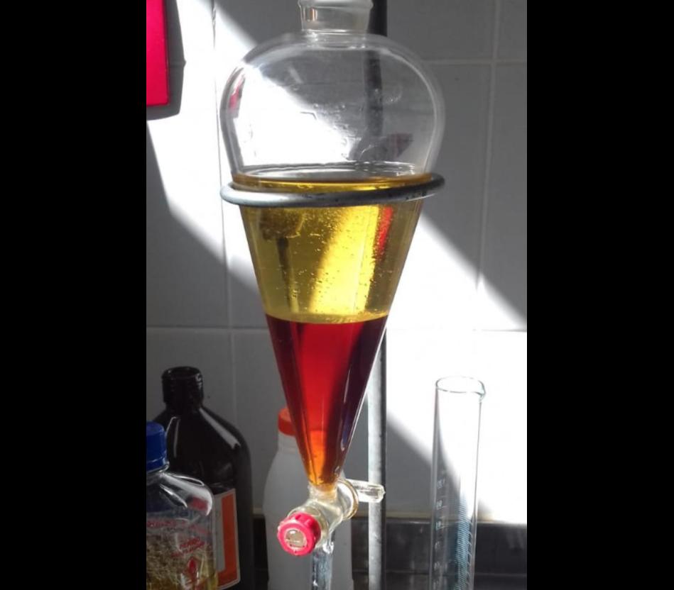 Biodiesel produzido pelos estudantes do CEPC no projeto desenvolvido na UFRB.