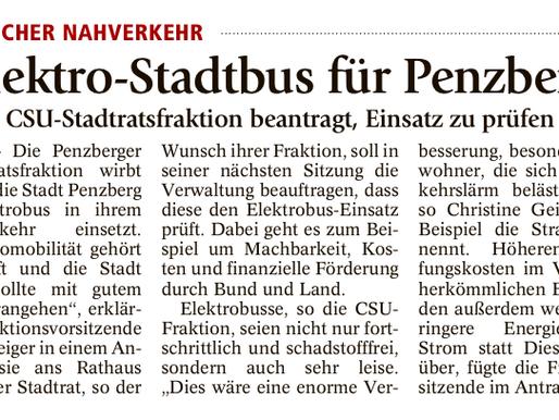 Penzberger Merkur: Elektro-Stadtbus für Penzberg