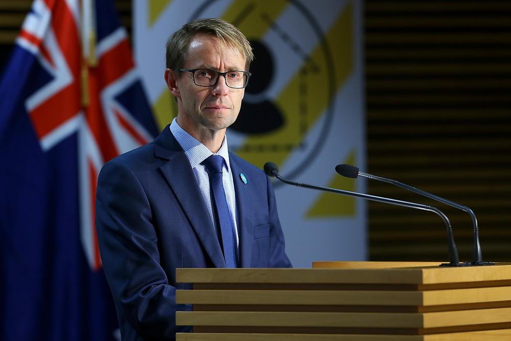 衛生部總幹事Dr Ashley Bloomfield確信,新西蘭已越過疫情爆發的峰值,嚴格的封關措施確保新西蘭不再有新的輸入型病例。(Photo by Hagen Hopkins - Pool/Getty Images)