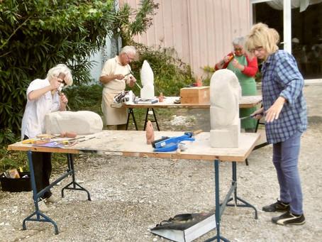 Sculpture : Taille de béton cellulaire