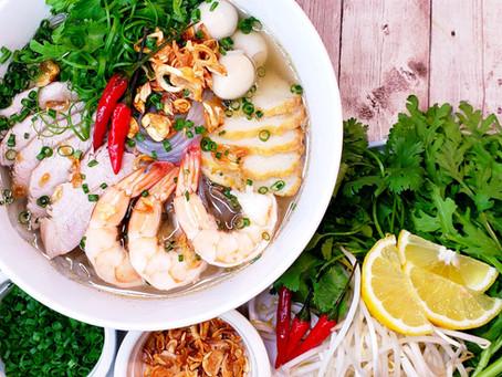 Instant Pot Hủ Tiếu Nam Vang - Seafood & Pork Glass Noodle Soup