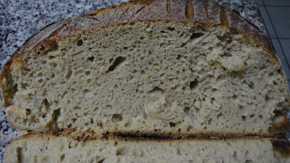 Ψωμί τύπου Tartin με καμούτ ολικής