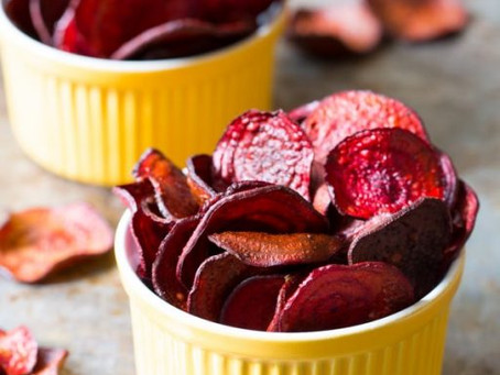 Oven Baked Beet Chips Recipe: