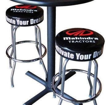The first logo bar stool
