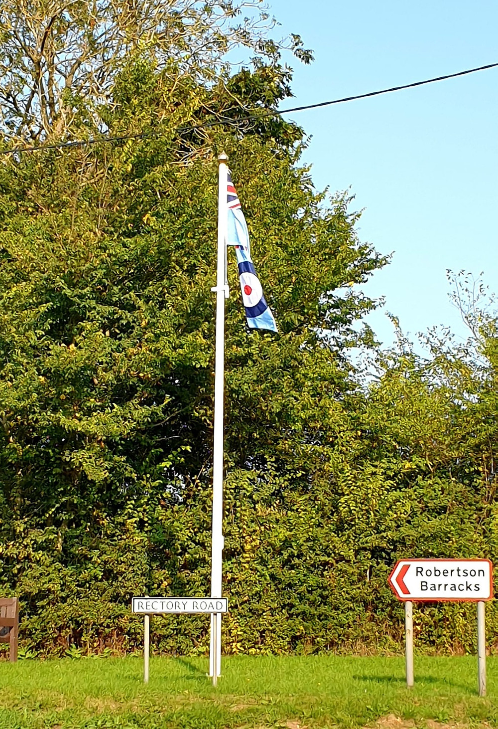 RAF ensign flag, flying on Swanton Morley Flag pole