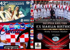 El conjunto folklórico ex-Marija Bistrica se presenta en Berisso.