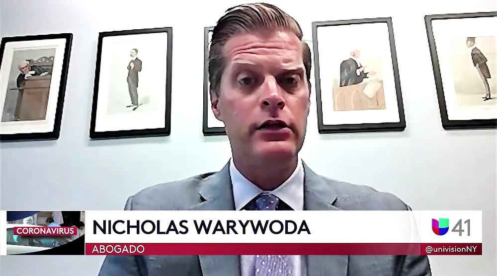 Nicholas Warywoda discusses coronavirus lawsuit