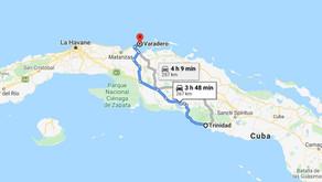 Distance entre les villes cubaines