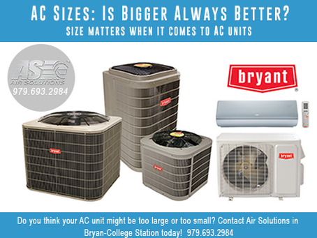 All About AC Sizes: Is Bigger Always Better?
