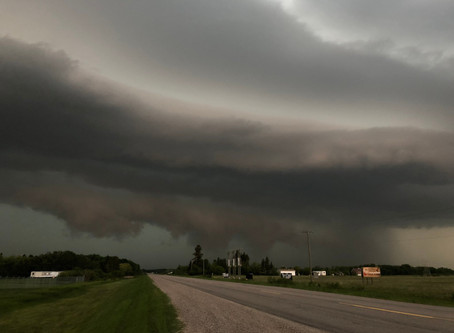 Stormy evening across Manitoba