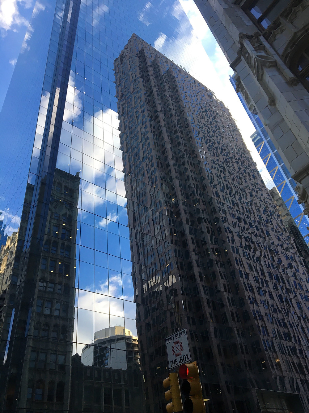 Reflections of office buildings in Philadelphia