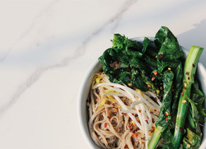 Chilled Soba Noodles and Greens with a Citrus Tahini Dressing