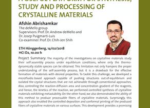 PhD public presentation by Afshin Abrishamkar