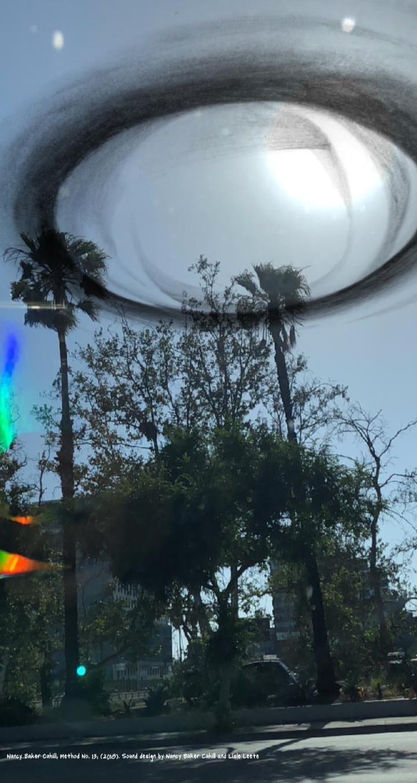 VR image of artwork set above the street.