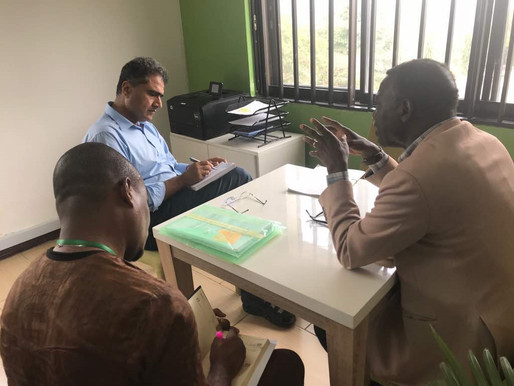 The VFS Chairman paid a courtesy call on the new country Director to Oxfam Nigeria