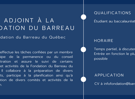 Adjoint à la Fondation du Barreau