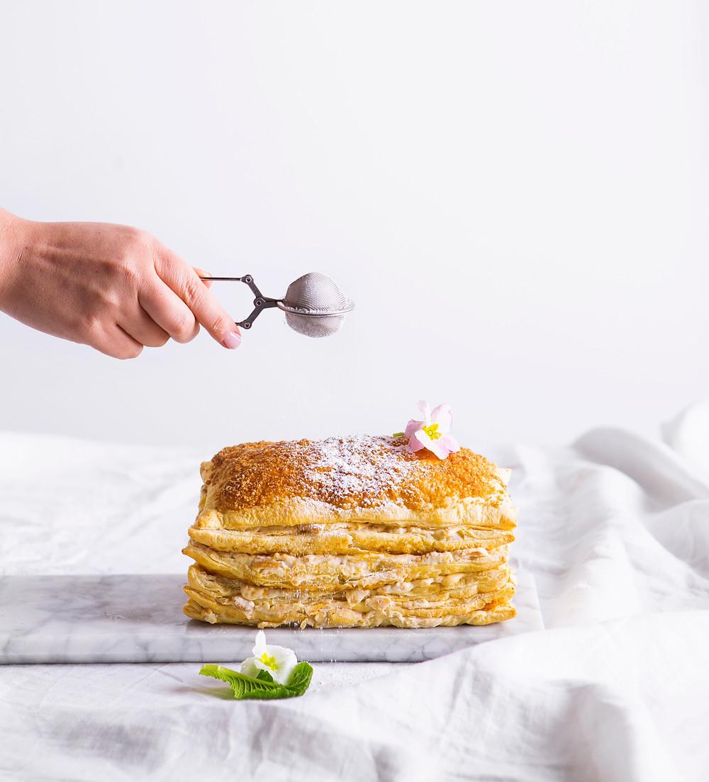 obuolių ir maskarponės pyragas, VMG receptai