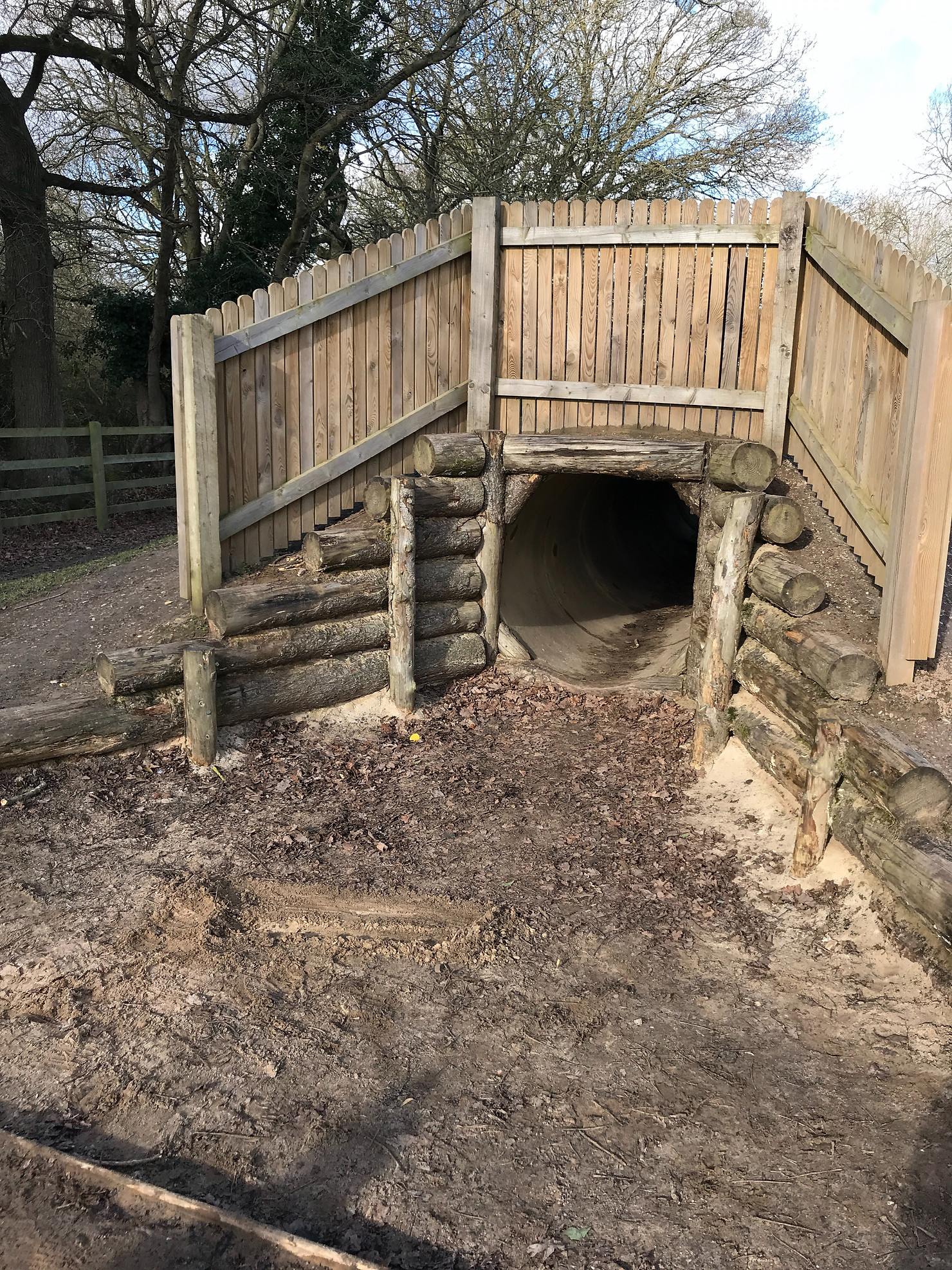 Play area at Dinton Pasture Country Park.