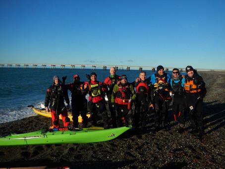 Salida en Kayak al Rio Chico por parte de socios del Club Náutico