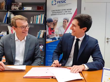 La FESIC et Des Territoires aux Grandes Ecoles signent une convention de partenariat