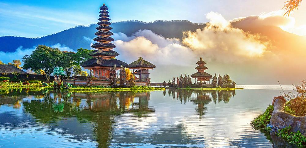 Salah satu pemadangan mempesona di Bali