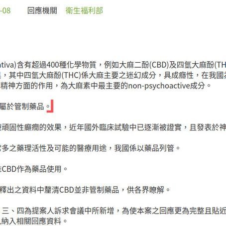 在台灣CBD之合法性
