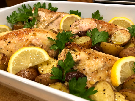 Lemon Chicken and Potato Bake