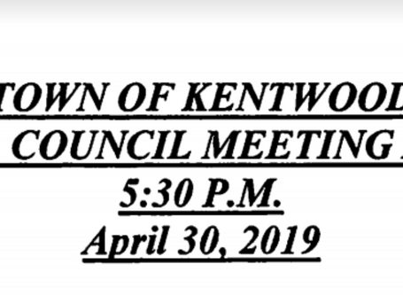 May Council Meeting moved to April 30th