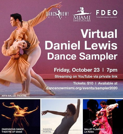 SAVE THE DATE October 23rd at the Virtual Daniel Lewis Dance Sampler
