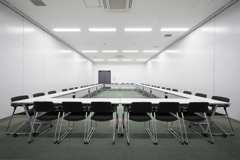 会議室は大きさに合わせて4タイプ 一番広い部屋