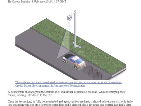 "EDAR Studies Featured on The ENDS Report: ""English Cities Trial System to Catch Polluting Cars"""