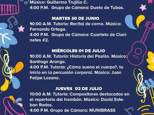 PROGRAMACIÓN BANDA MUNICIPAL DE MANIZALES SEMANA DEL 29 DE JUNIO AL 3 DE JULIO