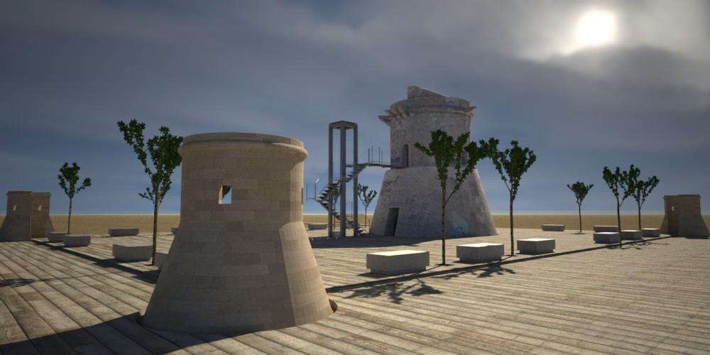 Torre de San Miguel al atardecer