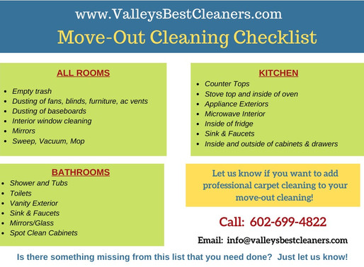 What's Included in a move-out cleaning checklist?