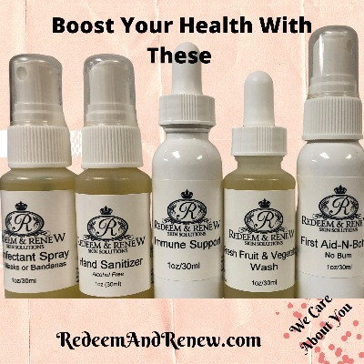 The Health Boost'  Comes with  Immune Boost  Vegetable Wash   Mask Sanitizer  Wound Care  Hand Sanitizer