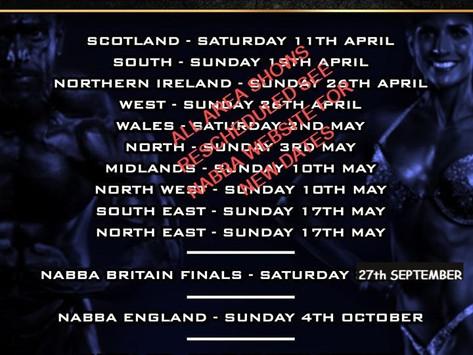 NABBA 2020 UK SHOWS