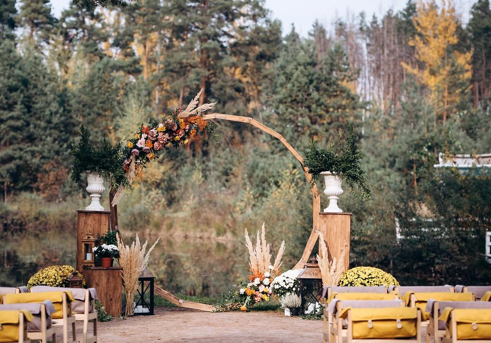 Herbstlicher Traubogen Wedding Wiesbaden