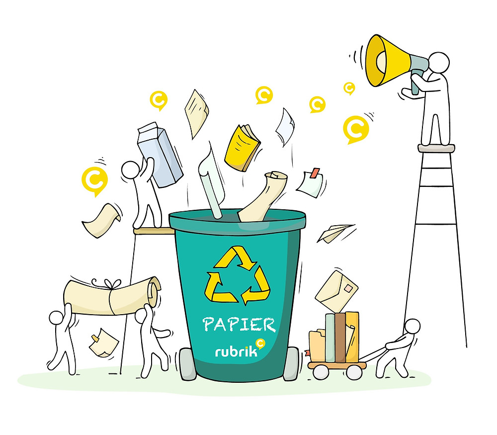 personas papier recyclage