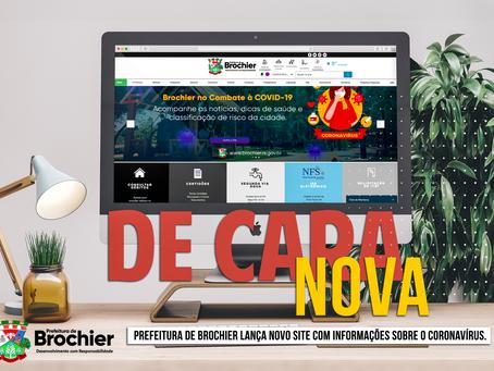Prefeitura de Brochier lança novo site com informações sobre o coronavírus.